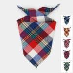 bandana foulard écossais à carreaux tartan pour le chien ou le chiot