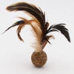 jouet herbe à chat balle de cataire avec plumes