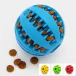 jouet alimentaire anti glouton balle distributrice de croquettes pour le chien et le chiot