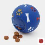 jouet alimentaire balle distributrice de croquettes anti glouton pour le chien ou le chiot